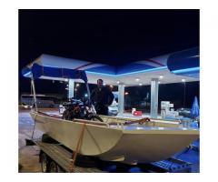 Nov metalni čamac sa tendom, registrovan